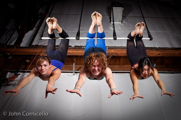 Conditioning classes at Emerald City Trapeze Arts