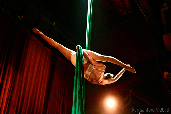 Aerial Silks at Emerald City Trapeze Arts in Seattle