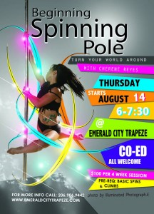 Spinning Pole Dancing Class Emerald City Trapeze