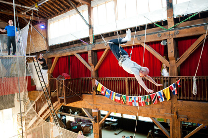 Man on Flying Trapeze at Emerald City Trapeze - All Ages - Seattle