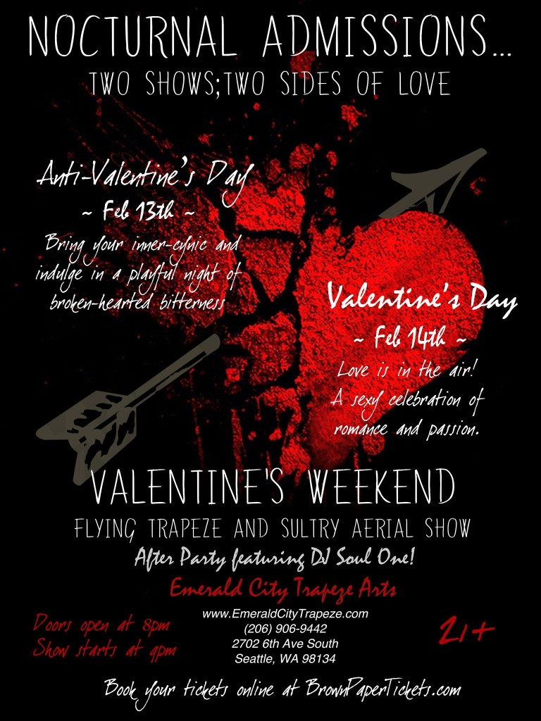 Emerald City Trapeze Valentine's Day Show Nocturnal Admissions