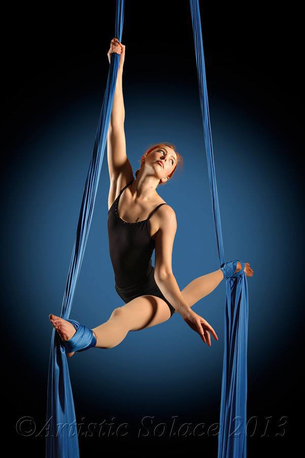 Emerald City Trapeze Guest Instructor Stage Makeup Aerial Silks and Act Development