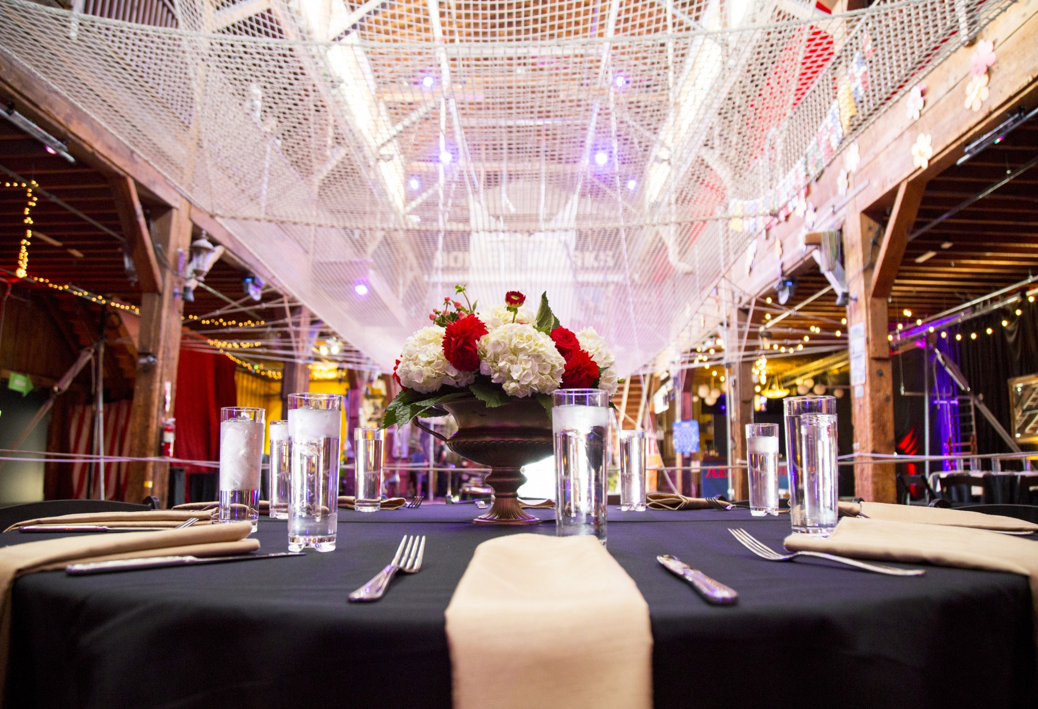 Weddings, Corporate Events, and parties at Emerald City Trapeze Arts