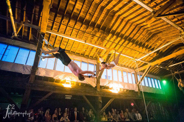 Flying Trapeze Arts Venue Party Corporate Event Seattle